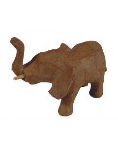 Papier-maché figuurtje 12 cm olifant