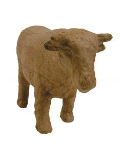 Papier-maché figuurtje 12 cm koe