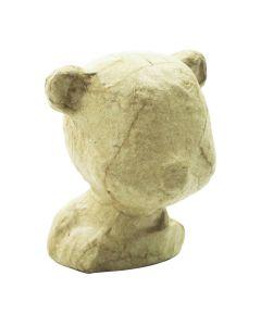 Papier-maché figuurtje 6 cm beer