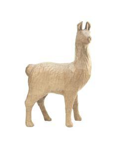 Papier-maché figuur 22 cm alpaca