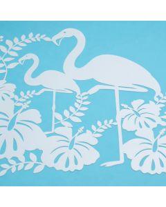 Marabu Silhouette sjabloon 30 x 30 cm Flamingo