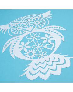 Marabu Silhouette sjabloon 30 x 30 cm Flowered Owl