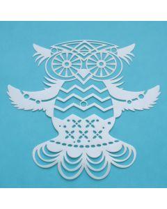 Marabu Silhouette sjabloon 15 x 15 cm Flying Owl