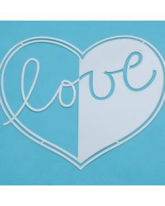 Marabu Silhouette sjabloon 15 x 15 cm Love