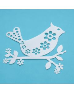 Marabu Silhouette sjabloon 15 x 15 cm Bird With Flowers