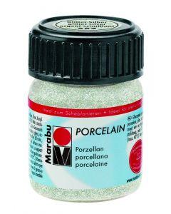 Marabu porseleinverf 15 ml glitter zilver