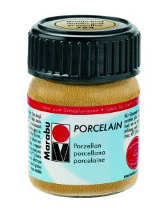 Marabu porseleinverf 15 ml metallic goud