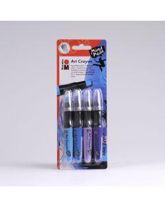 Marabu Art Crayon 4 stuks Blue Ocean