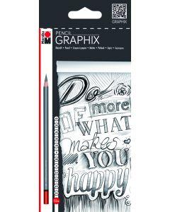 Marabu Graphix potloden 5H - 6B 12 stuks