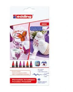 Edding porselein penseelstift 1-4 mm 6 stuks Warm