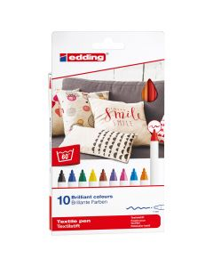 Edding textielstift dun set 10 stuks basic