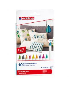 Edding textielstift dun set 10 stuks fun