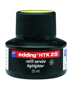 Edding highlighter navulinkt 25 ml fluogeel