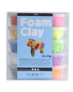 Foam Clay 10 x 35 g assortiment standaard
