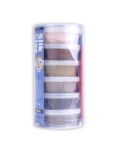 Silk Clay set 6 x 14 g huidskleuren