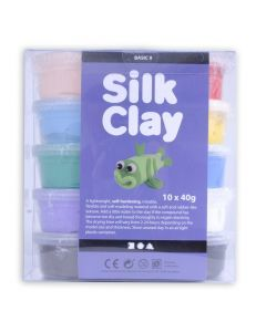 Silk Clay set 10 x 40 g basic 1