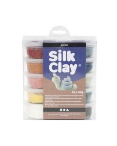 Silk Clay set 10 x 40 g natuurkleuren