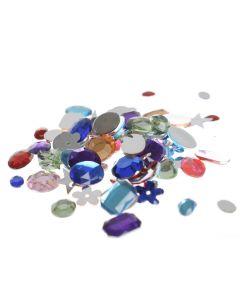 Strassteentjes acryl 10-15 mm 15 g