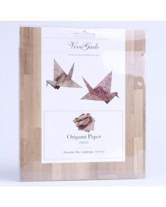 Origamipapier 15 x 15 cm 50 stuks hout patronen
