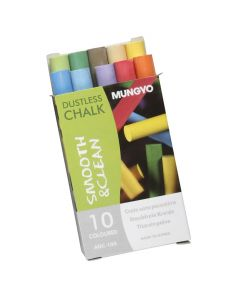 Schoolbordkrijt 10 stuks gekleurd