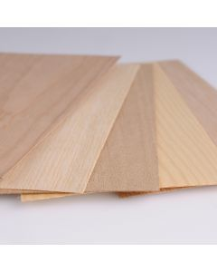 Hout fineer 0,5-0,7mm 22 x 12 cm 5 stuks assortiment