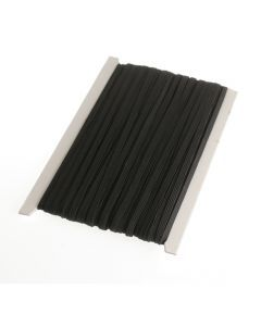 Elastiek plat 6 mm 50 m zwart