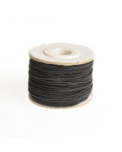 Elastiek rond 1 mm 25 m zwart