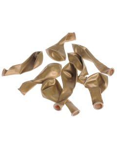 Ballonnen 23 cm 8 stuks goud