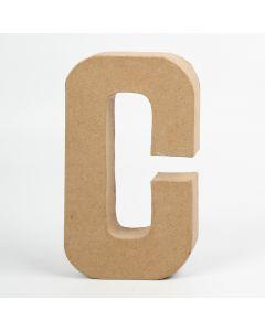 Letter karton, hoogte 20,5 cm, dikte 2,5 cm C