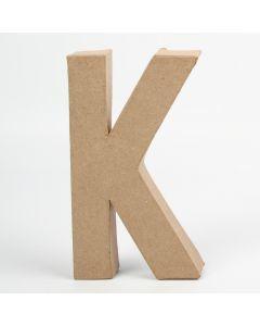 Letter karton, hoogte 20,5 cm, dikte 2,5 cm K