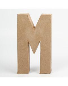 Letter karton, hoogte 20,5 cm, dikte 2,5 cm M