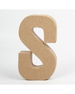Letter karton, hoogte 20,5 cm, dikte 2,5 cm S