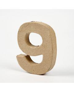 Cijfer karton, hoogte 10 cm, dikte 2 cm - 9