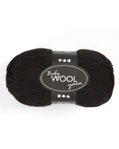 Baby wol 50 g zwart