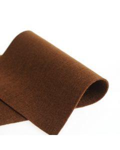 Vilt 100% wol 1,2 mm 20 x 30 cm bruin