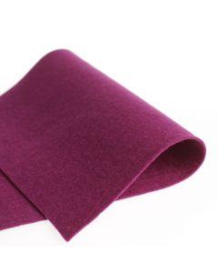 Vilt 100% wol 1,2 mm 20 x 30 cm roodpaars