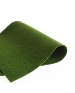 Vilt 100% wol 1,2 mm 20 x 30 cm donkergroen