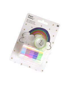 Iriserende tape met dispenser 12 mm x 2 m 6 stuks