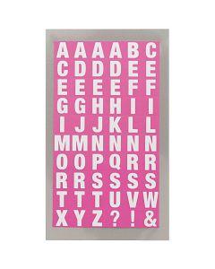 Stickers alfabet vierkant fuchsia
