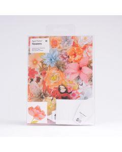 Sjablonenset papieren bloemen 6 stuks Pioen