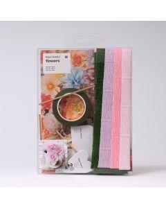 Knutselset papieren bloemen Roos