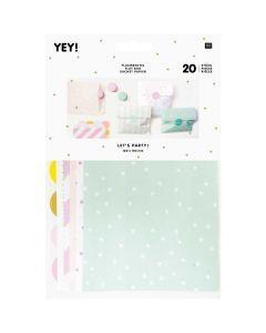 Verpakkingszakjes met stickers 20 stuks munt