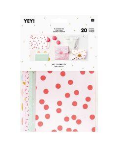 Verpakkingszakjes met stickers 20 stuks roze