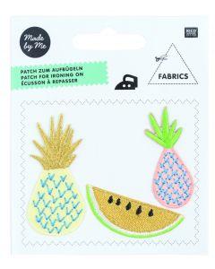 Rico Tropical Opstrijklabel 3 stuks ananas/meloen