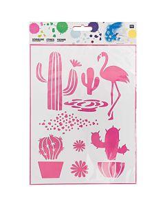 Sjablonen 18,5 x 24,5 cm cactus mix