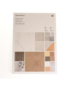 Blok papier A4, 120 - 270 g 30 vellen architectuur