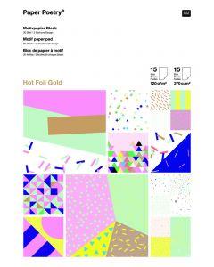 Blok papier A4, 120 - 270 g 30 vellen confetti