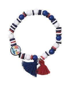 Armband setje blauw/rood