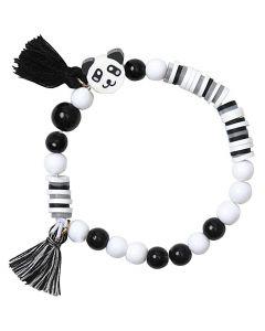 Armband setje zwart/wit