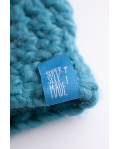 """Label buiten Super Self Made"""" 3 stuks blauw"""""""
